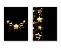 Diseño del folleto con las estrellas de oro ilustración del vector