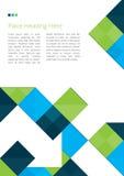 Diseño del folleto con los cuadrados Foto de archivo