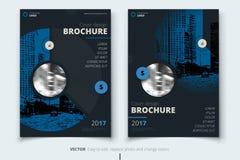 Diseño del folleto Diseño corporativo de la cubierta, del folleto o del aviador del informe de negocios Presentación del prospect ilustración del vector