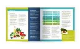 Diseño del folleto de la comida