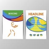 Diseño del folleto de la cubierta de boxeo Foto de archivo libre de regalías