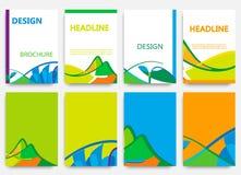 Diseño del folleto en estilo del verano Foto de archivo