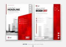 Diseño del folleto o del aviador del negocio corporativo Presentación del prospecto Imagen de archivo