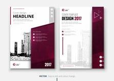 Diseño del folleto o del aviador del negocio corporativo Presentación del prospecto Foto de archivo