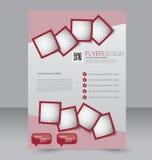 Diseño del folleto Plantilla del aviador Cartel Editable A4 Imagen de archivo libre de regalías