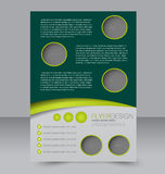 Diseño del folleto Plantilla del aviador Cartel Editable A4 Foto de archivo