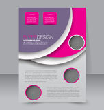 Diseño del folleto Plantilla del aviador Cartel Editable A4 Fotos de archivo