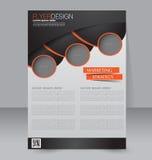 Diseño del folleto Plantilla del aviador Cartel Editable A4 Foto de archivo libre de regalías