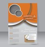 Diseño del folleto Plantilla del aviador Cartel Editable A4 Fotografía de archivo