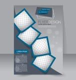Diseño del folleto Plantilla del aviador Cartel Editable A4 Fotos de archivo libres de regalías