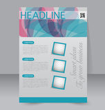 Diseño del folleto Plantilla del aviador Cartel Editable A4 Fotografía de archivo libre de regalías