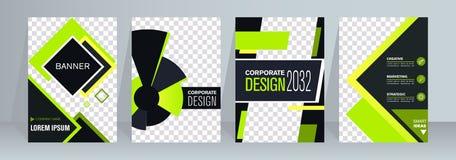 Diseño del folleto y del aviador del negocio Plantilla del doblez de los prospectos 4 Libro y revista de la cubierta Ejemplo del  libre illustration