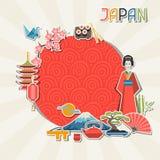 Diseño del fondo de Japón Imagenes de archivo