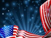 Diseño del fondo de la bandera americana Imagenes de archivo