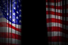 Diseño del fondo de la cortina de la etapa de los E.E.U.U. de bandera americana Fotos de archivo libres de regalías
