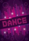 Diseño del fondo de la danza del club nocturno Imágenes de archivo libres de regalías