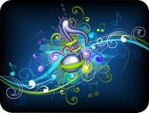 Diseño del fondo de la música Fotografía de archivo