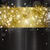 Diseño del fondo de la Navidad de luz y de copo de nieve del bokeh Imágenes de archivo libres de regalías