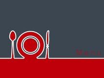 Diseño del fondo de la publicidad del restaurante Imagen de archivo