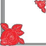 Diseño del fondo de la rosa del rojo Ilustración del Vector