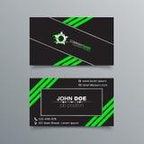 Diseño del fondo de la tarjeta de visita Fotografía de archivo