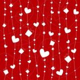 Diseño del fondo de las tarjetas del día de San Valentín Imagen de archivo libre de regalías