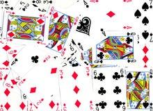 Diseño del fondo de las tarjetas que juegan Imagen de archivo libre de regalías