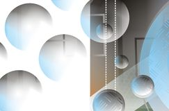 Diseño del fondo del círculo Fotografía de archivo libre de regalías