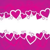 Diseño del fondo del día de tarjeta del día de San Valentín Foto de archivo