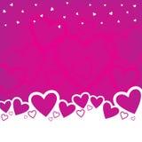 Diseño del fondo del día de tarjeta del día de San Valentín Fotografía de archivo