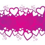 Diseño del fondo del día de tarjeta del día de San Valentín Fotos de archivo