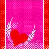 Diseño del fondo del día de tarjetas del día de San Valentín Foto de archivo