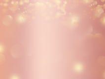 Diseño del fondo del extracto del brillo del oro de Rose Fotografía de archivo libre de regalías