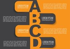 Diseño del fondo del folleto del negocio con las etiquetas de ABCD Imagen de archivo libre de regalías