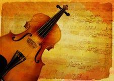Diseño del fondo del violín Imágenes de archivo libres de regalías