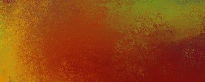 Diseño del fondo del grunge del vintage en oro anaranjado rojo y verde con la vieja superficie de la textura del moho libre illustration