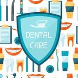 Diseño del fondo médico con el equipo dental Imagen de archivo libre de regalías