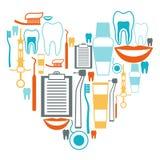 Diseño del fondo médico con los iconos dentales Imagen de archivo libre de regalías