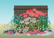 Diseño del frente de la casa libre illustration
