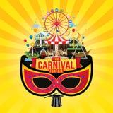 Diseño del funfair del carnaval libre illustration