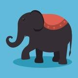 diseño del funfair del festival del elefante ilustración del vector