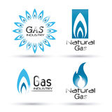 Diseño del gas natural stock de ilustración