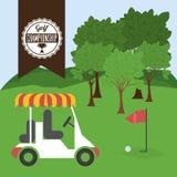 Diseño del golf Imagen de archivo
