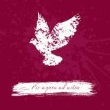 Diseño del Grunge con la silueta de las manchas blancas /negras del aforismo animal y latino Imagen de archivo libre de regalías