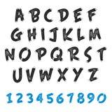 Diseño del grunge del alfabeto inglés Foto de archivo libre de regalías