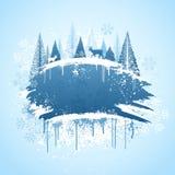 Diseño del grunge del bosque del invierno Fotos de archivo libres de regalías