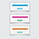 Diseño del hoja informativa Imágenes de archivo libres de regalías