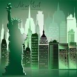 Diseño del horizonte de New York City Imágenes de archivo libres de regalías