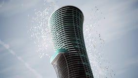 Diseño del hotel de lujo con el concepto arquitectónico de la tecnología, 3d con referencia a libre illustration