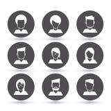 Diseño del icono de Coworking Fotografía de archivo libre de regalías